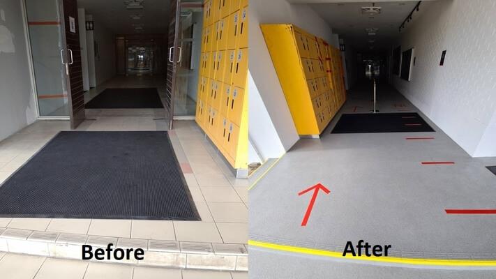 epoxy flake coating commercial