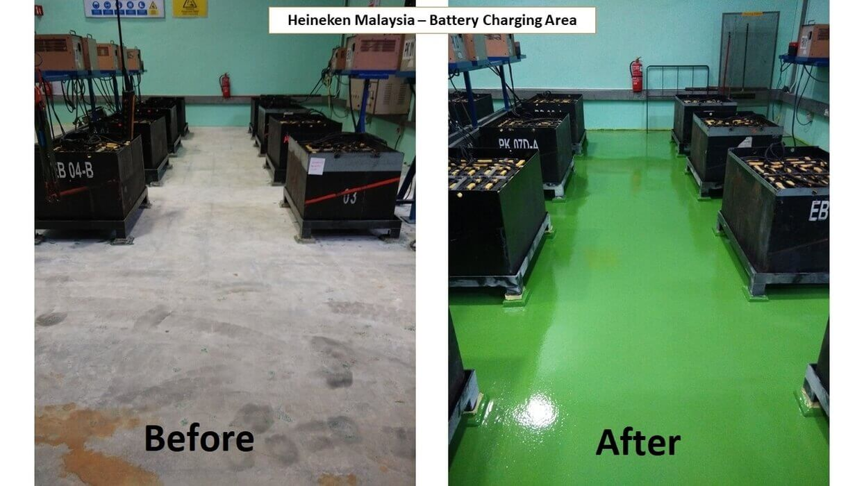 heavy duty flooring before after